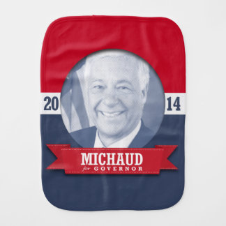 MIKE MICHAUD CAMPAIGN BURP CLOTHS