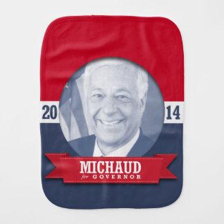 MIKE MICHAUD CAMPAIGN BABY BURP CLOTHS