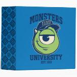 Mike Monsters University Est. 1313 light Binder