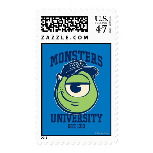 Mike Monsters University Est. 1313 Stamp