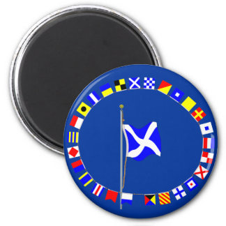 """Mike  """"My vessel is stopped""""  nautical signal flag Magnet"""