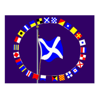 """Mike  """"My vessel is stopped""""  nautical signal flag Postcard"""