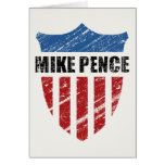 Mike Pence Shield Greeting Card