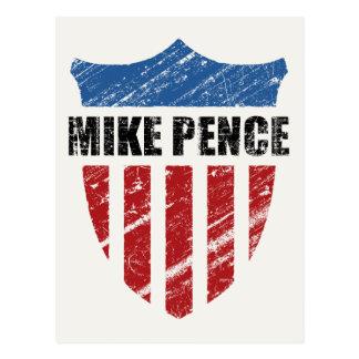 Mike Pence Shield Postcard
