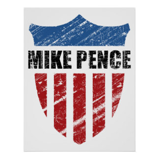 Mike Pence Shield Poster