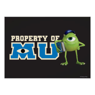 Mike Property of MU Poster