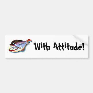 Mike Quinn Toothy Fish with Attitude Bumper Sticker