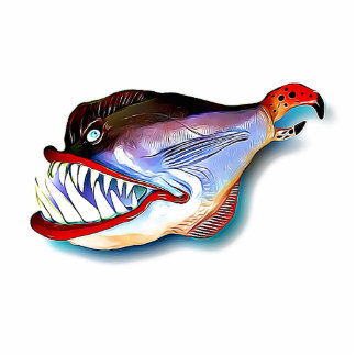 Mike Quinn Toothy Fish with Attitude Cutout