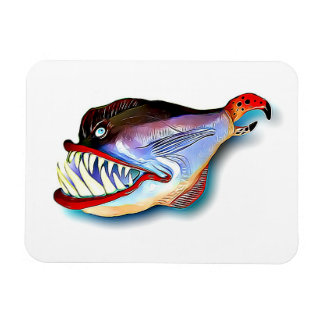 Mike Quinn Toothy Fish with Attitude Magnet