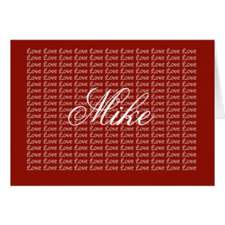 Mike Red Endless Love Card