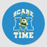 Mike Scare Time Classic Round Sticker