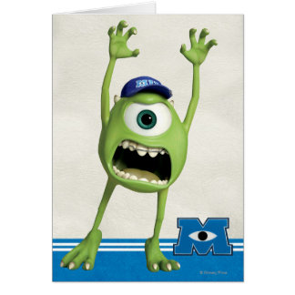 Mike Scaring Greeting Card