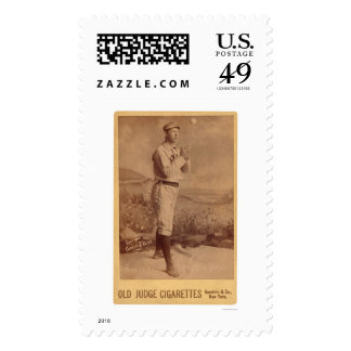 Mike Slattery Baseball Card 1889 Postage Stamp
