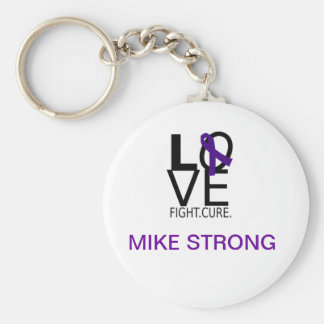 Mike Stong Basic Round Button Keychain