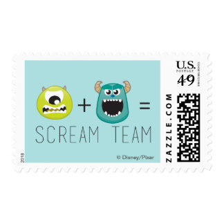 Mike+Sulley=Scream Team Postage