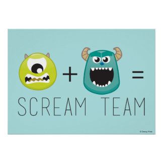 Mike+Sulley=Scream Team Poster