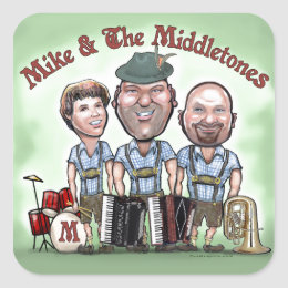 Mike & The Middletones at Fest Square Sticker