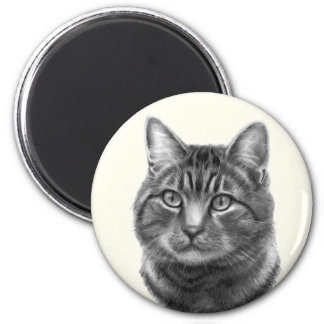 Mike, Tiger Cat 2 Inch Round Magnet