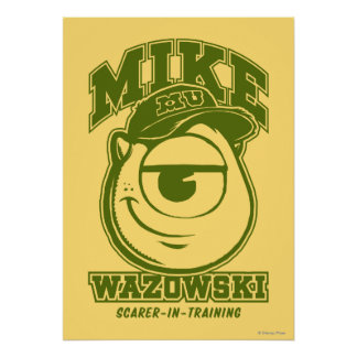 Mike Wazowski - Scarer in Training Poster