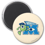 Mike with Monsters U Flag 2 Inch Round Magnet