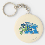 Mike with Monsters U Flag Keychains