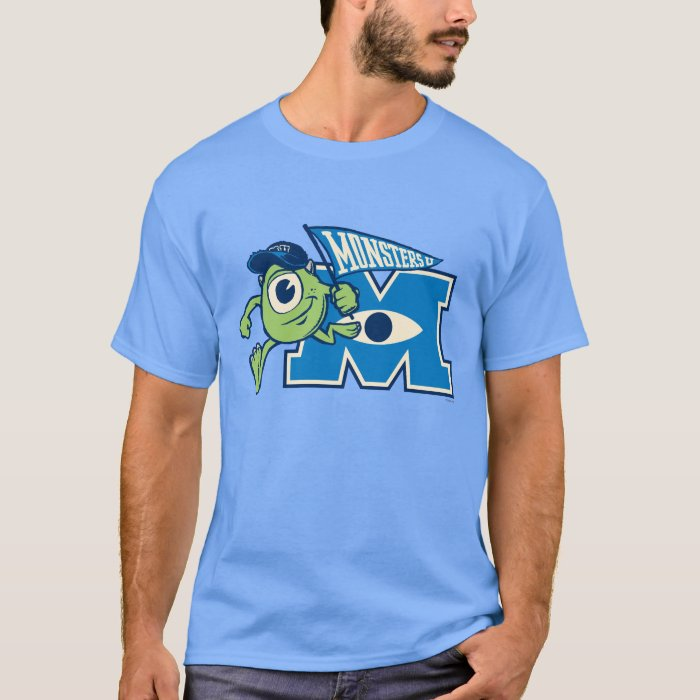 Mike with Monsters U Flag T-Shirt