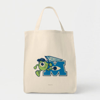 Mike with Monsters U Flag Tote Bag