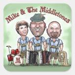 Mike y el Middletones en el Fest Calcomania Cuadradas Personalizada