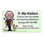 Mike y la música de Middletones Tarjeta De Negocio