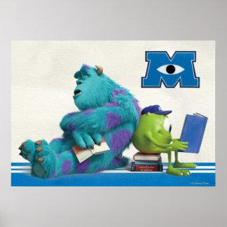 Mike y lectura de Sulley Impresiones
