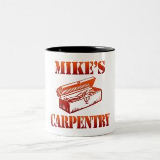 Mike's Carpentry Two-Tone Coffee Mug