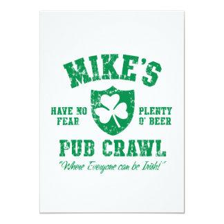 Mike's Irish Pub Crawl Invites