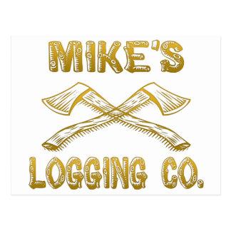 Mike's Logging Company Postcard