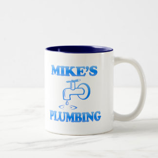 Mike's Plumbing Two-Tone Coffee Mug