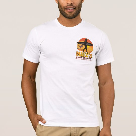Mike's Retired Surfers Bar 2sided Amer App T-Shirt