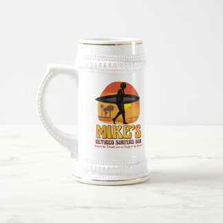 Mike's Retired Surfers Bar Personalized Stein