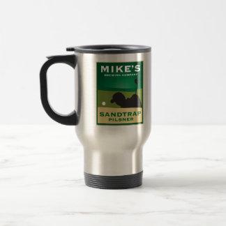 Mike's Sandtrap Pilsner Personalized Travel Mug