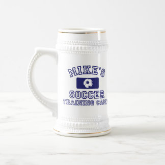 Mike's Soccer Training Camp Stein 18 Oz Beer Stein
