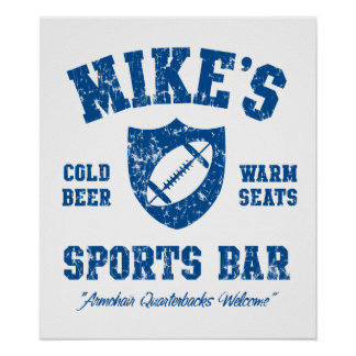 Mike's Sports Bar Personalized Poster