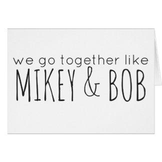 Mikey & Bob (Pittsburgh KISS) Card
