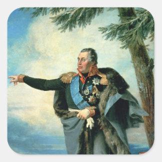 Mikhael Ilarionovich Golenichtchev Kutuzov Square Stickers
