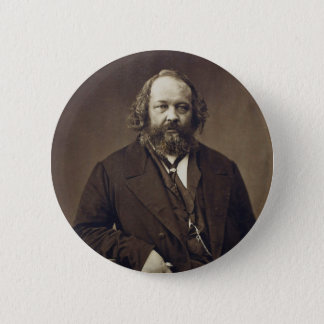Mikhail Bakunin Russian Anarchist by Nadar Button