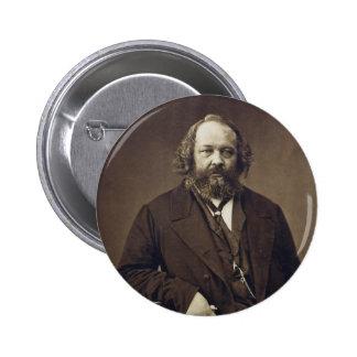 Mikhail Bakunin Russian Anarchist by Nadar Button