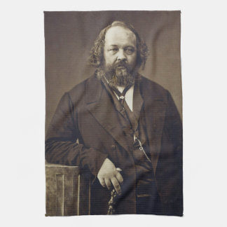 Mikhail Bakunin Russian Anarchist by Nadar Kitchen Towel