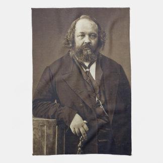 Mikhail Bakunin Russian Anarchist by Nadar Kitchen Towels