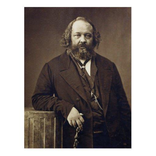 Mikhail Bakunin Russian Anarchist by Nadar Post Card
