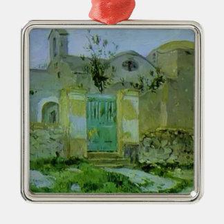 Mikhail Nesterov- Capri Entrada al monasterio Ornaments Para Arbol De Navidad