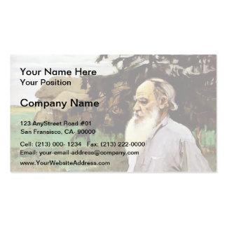 Mikhail Nesterov- Portrait of Leo Tolstoy Business Card