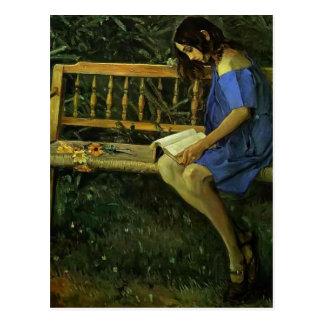 Mikhail Nesterov- Portrait of Natasha Nesterova Postcard