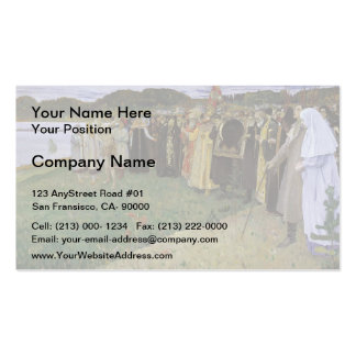 Mikhail Nesterov- Rus: The Soul of the People Business Card Template